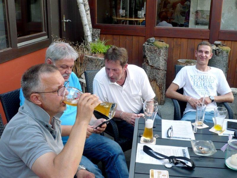 3. Erstmal was trinken bei der Hitze